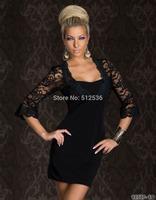 New women's world charm lace dress elegant dress vestidos club party wear M L plus size