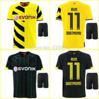 High quality kits 14 15 Borussia Dortmund Soccer Jersey+shorts REUS GUNDOGAN SAHIN home football shirt BVB soccer uniforms set