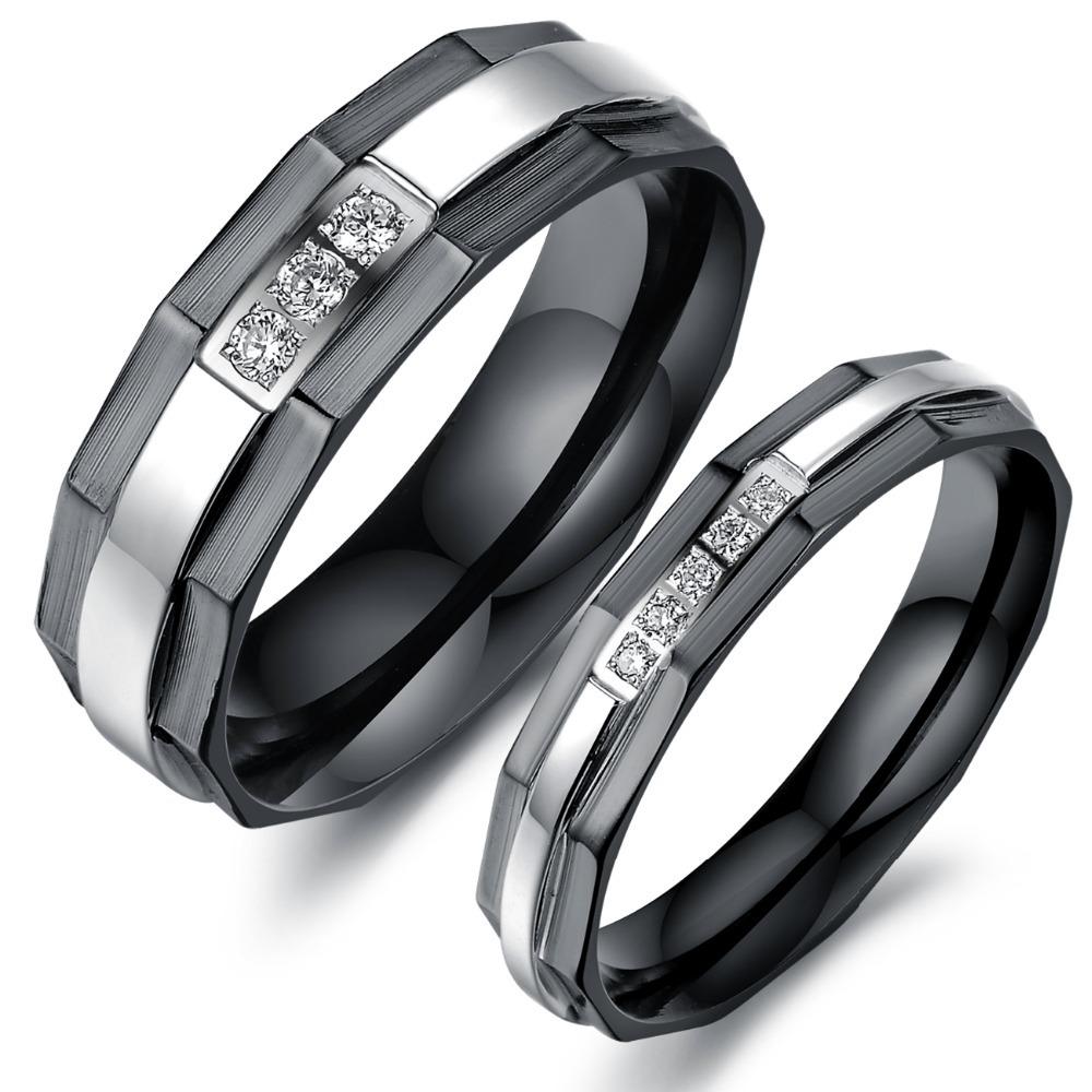 Tungsten Wedding Band Définit Elle et Lui