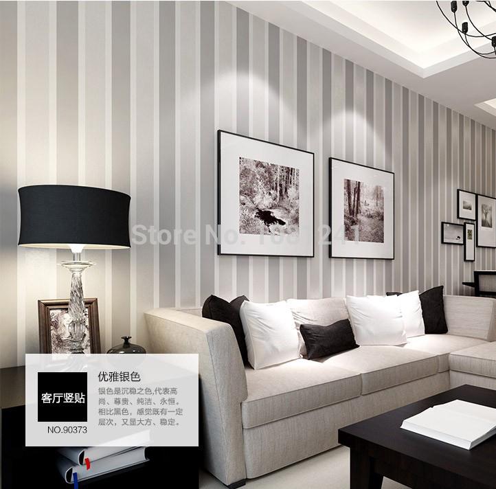 moderna breve listra vertical não- tecido casa papel de parede interior decoração sala de estar quarto etiqueta cenário parede papel(China (Mainland))