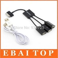3 in 1 USB OTG Host Hub Cable Adapter multi-funtion OTG For Samsung Galaxy Tab 2 P5100 P5110 P3100 P3110 Free Shipping