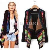 Free shipping 2014 New Women Wild geometric scarf collar loose Knitwear Shawl Sweater