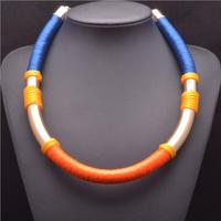 2014 New Arrival Fashion Statemnet ZA Brand Rope Simple Collar Fashion Shourouk Luxury Good Quality 9252