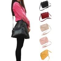 Ladies PU Leather Hobo Shoulder Bag Satchel Cross Body Women Handbag Totes S5M