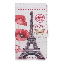 Print luxury PU Leather Case Flip Cards Slot Wallet Bag Stand Cover Skin for Nokia Lumia 520 N520