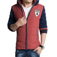 Hot sale free shipping casual slim fit cotton padded hooded men winter coat jacket outwear 3 colors M-XXXL