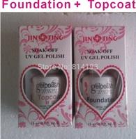 Shellac Gelishgel Foundation & Topcoat Set UV LED Soak off UV GEl Polish Nail Art 15ml Base Gel