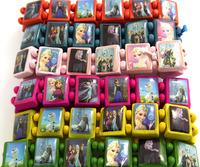 Wholesale New Arrival 60 pcs PSY Oppa Gangnam Style Fashion 6 Colors Mix Wood Stretch bracelets