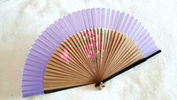The lowest price on sale]10pcs/lot Jet Printing Luxury lady gift fan/silk fan&bamboo ribs Peony, Orchid, Peach blossom, beauty