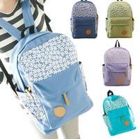 Fashion Womens Canvas Satchel Travel Shoulder Bag Backpack School Rucksack S5M