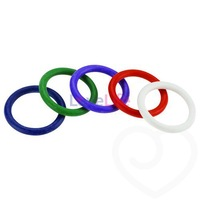 Spartacus Rainbow Rubber Cock Ring Set 1.5 Inch (5 Pack),Penis ring,Sex delay,Love ring