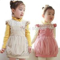 Lanterns Design Girls Dress Children Baby Cotton Dress Princess Dress Kids Clothies Kids Clothes Free Shipping 5 PCS