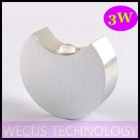 (WECUS) free shipping, LED wall lamp, fashion creative bedroom bedside lamp, wall / stairs / corridor lamp, 1W,XJ-BD-1128