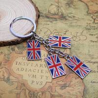 2012 London Olympic souvenirs key chains 2014 new London 4 Union Jack charms key ring free shipping !