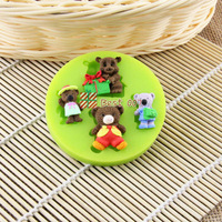 2O14 New Food-grade Silicone Mold 3D baby bear,Fondant Cake Decorating Tools,Silicone Soap Mold,Silicone CakeMold