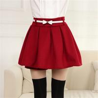 2014 New autumn and winter woolen high waist women skirt 6colors