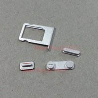 50Set/Lot Original Side Keypad Set Power Volume Mute Switch Button + Sim Card Tray  for iPhone 5S Replacement Parts Wholesale