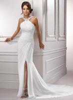 Informal sleeveless chiffon wedding bridal dresses A3578