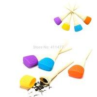 4 Colors 2 Pieces Art Brush Tea Filter Infuser,Art Brush Tea Strainers