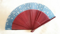 The lowest price] 10pcs/lot hot sale pretty bamboo hand fans in high quality with more color for choice/retail or wholesale