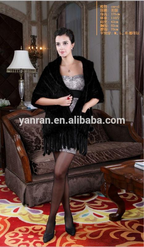 Женская одежда из меха Y.ROGUSA YR036 Top Thick Knit Mink Fur Shawl/Women Fur Shawl/Fashion 2015/2016 женская одежда из меха cool fashion s xl tctim07040002