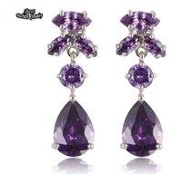 Purple Crystal Dangle Earring Zircon Earring ZC202ER