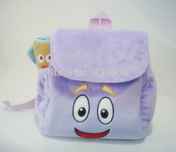 Nova Dora Backpack o ENVIO Explorador Plush Backpack DORA Pré Escola Bolsa Criança GRÁTIS(China (Mainland))