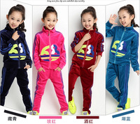Hot sale 2014 new Children's newest sports suits, cotton children's sports suits Free shipping!   A711