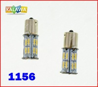 One pair of single contact brakelights 1156 SMD7014 26LED light white free shipping^GG02