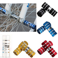 Direct spot 1 pair Bike Bicycle Cycling Hexagonal Axle Foot Pegs Rear Wheel Pedals Color Random