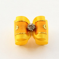 Armi store Handmade Accessories Pet Yellow Ribbon Dog Bow #a21028 Puppies Wholesale Beauty Products