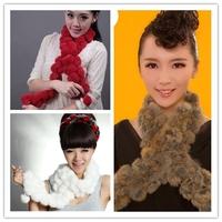 Hot!!! 1Pcs Fashion Rabbit velvet fur scarves Long style Woman Winter scarf Neck Warmer Wraper Shawl Muffler gi673118