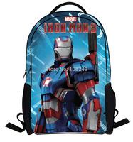 New Arrival Hot Movie Iron Man Backpacks Boy Kids Handsome Hero Book Bags School Student Backpacks