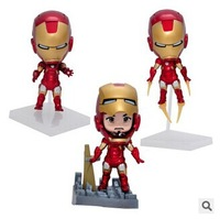 Hand-done model doll /super man ,The Avengers, Iron Man 10-13CM PVC figures toys for boy
