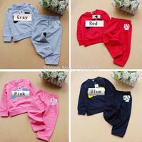 Retail baby Boys girls tracksuits Long sleeve+Pants Kids Spring Autumn set children Clothing set children's wear Free shipping