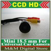 Mini Car 18.5MM Camera HD CCD Car Rear View Camera  Reverse Parking  back up Camera night vision waterproof Free Shipping