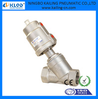 Completely stainless steel angle seat valve DN25 ZG thread KLJZF-25SS