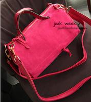 New Boston turned fur handbags shoulder diagonal bag Korean version of the matte leather bag