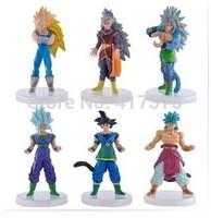Dragon Ball models, hand-done, Super Saiyan,  Play Set 6pcs/lot PVC13cm High Action Figures Classic Toys