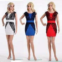 Vestidos Free Shipping Limited Women Dress Summer Dress 2014 New Fashion Mini Bodycon Sexy Club Plus Size Bandage Elegant M/l/xl