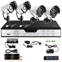Zmodo 8 CH Channel DVR 4 Outdoor 600TVL CCTV Security Surveillance Camera System