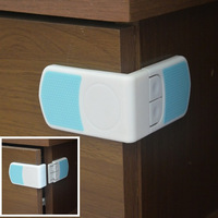 12pcs/lot New Style Baby Security Multifunctional Safety Lock/ Right Angle Corner Baby Cabinet Door Drawer Locks Protection