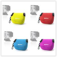NEOpine Gopro Accessories Diving Gopro Case Neoprene Fabric Colorful Action Camera Bag For Gopro Hero 3+ Hero 3 Hero 2 Hero 1