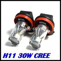 2pcs H11 led High Power 30W 6LED Pure White Fog Head Tail Driving Car Light Bulb Lamp 12V H11 30W foglamp car light source