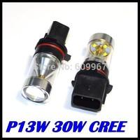 10PCS/LOT P13W Led Bulb 30W High Power Ultra Bright CREE P13W LED Car Foglamp Fog Light 700LM White 12V Free Shipping Wholesale