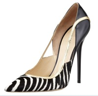 luxury horsehair women high heels 2014 fashion women brand pumps ladies dress shoes party wedding shoes