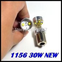 HotSale 50pcs/lot super brightness High Power 1156 led, 30W CREE XBD p21w led, ba15s Reverse Tail Light Bulb Lamp White