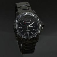 New Curren 8099 Black Steel Watch Men Round Dial Analog Quartz Watches Luxury Brand Sports Watches Relogio Rolojes
