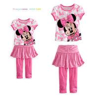 2014 Summer Cute Girls Minnie Casual Short-sleeved Suit  K6160