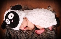 0-1 Years Old Newborn Baby Photography Props Baby Girl Boy Crochet Beanies Costumes For Photo Knitting Cute Sheep Overall